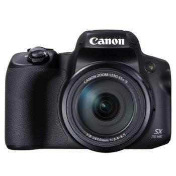 """Фотоапарат Canon PowerShot SX70 HS, 65x оптично увеличение, 20.3 Mpix, 3.0"""" (7.5 cm) дисплей, слот за SD/SDHC/SDXC карта, Wi-Fi, Micro HDMI, Micro USB image"""