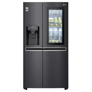 Хладилник с фризер LG GSX961MCCZ, клас F, 601 л. общ обем, свободностоящ, 376 kWh/годишно, Door Cooling⁺, Total No Frost, Pure N Fresh, Smart Diagnosis, черен image