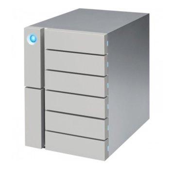 """Твърд диск 60TB Lacie 6big (сив), външен, 3.5""""(8.89 cm), Thunderbolt 3 image"""
