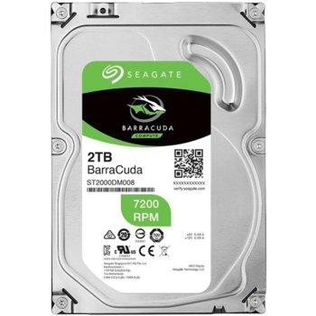 """Твърд диск 2TB Seagate Barracuda ST2000DM008, SATA 6Gb/s, 7200rpm, 256MB кеш, 3.5"""" (8.89cm) image"""