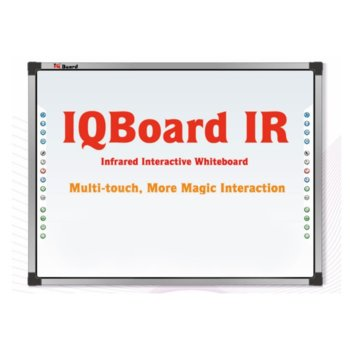 """Интерактивна дъска IQBoard IRQK, 87"""" (221 cm) 4:3 мултитъч дисплей, 18 бързи бутона, инфраред технология, USB image"""