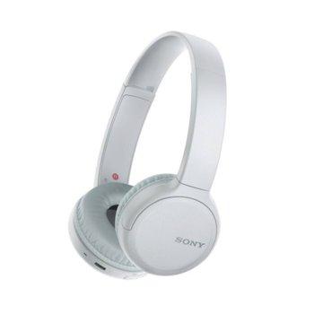 Слушалки Sony WH-CH510, безжични, Bluetooth, USB type-C, бели image