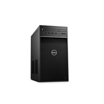 Настолен компютър Dell Precision 3630 Tower (#DELL02548), четириядрен Coffee Lake Intel Xeon E-2224G 3.5/4.7 GHz, Radeon Pro WX 7100 8GB, 32GB DDR4, 512GB SSD & 1TB HDD, 5x USB 3.1, клавиатура и мишка, Windows 10 Pro image