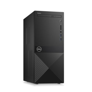 Настолен компютър Dell Vostro 3671 MT (N113VD3671EMEA01_R2005_22NM_UBU), шестядрен Coffee Lake Intel Core i5-9400 2.9/4.1 GHz, 8GB DDR4, 1TB HDD, 2x USB 3.1 Gen 1, клавиатура и мишка, Linux image