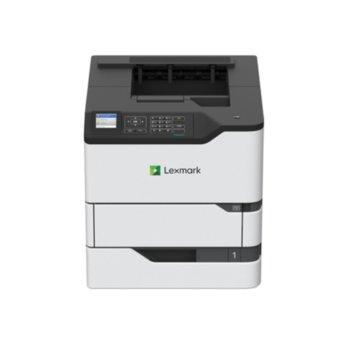 "Лазерен принтер Lexmark MS821n, монохромен, 1200 x 1200 dpi, 52 стр/мин, LAN1000, USB, A4, 2.4"" (6.096 cm) цветен дисплей image"
