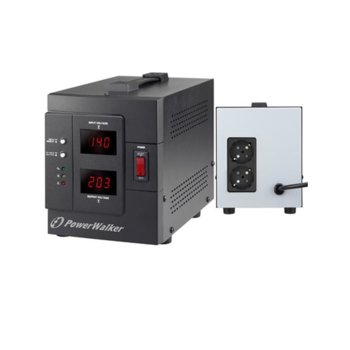 Стабилизатор PowerWalker AVR 1500 SIV, 1500 VA/1200 W image