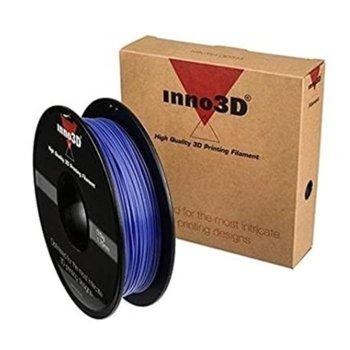 Консуматив за 3D принтер Inno3D, PLA Blue, 1.75mm, син, 500g, пакет от 5 броя image