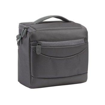 Чанта за фотоапарат Rivacase 7218, за SLR фотоапарати и обективи, полиестер, сива image