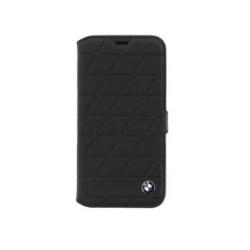 Калъф Apple iPhone X, отваряем, есествена кожа и поликарбонат, BMW Leather Booktype Case, вътрешността предпазва вашето мобилно устройство от надраскване, черен image