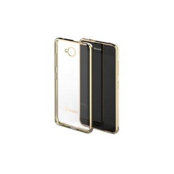 Кейс Glam Case за Microsoft Lumia 650, прозрачен-златист image