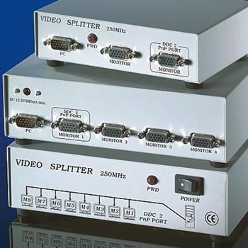 Видео сплитер VALUE 14.99.3530, 1x HD 15-пина (м) към 4x HD 15-пина (ж), 1600x1280 резолюция, 250 MHz image