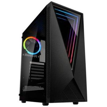 Кутия Kolink VOID, ATX/MiniITX/MicroATX, 2x USB 3.0, страничен прозорец, RGB подсветка, черна, без захранване image