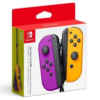 Геймпад Nintendo Switch Joy-Con, за Switch, безжичен, лилав и оранжев image