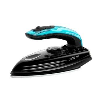 Парна ютия Cecotec FastFurious 4000 Travel, до 20 г/мин непрекъсната пара, парен удар до 65 г., Turbo Slide плоча, 1200W, черна image