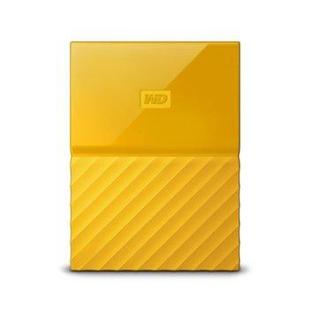 "Твърд диск 2TB Western Digital MyPassport (THIN) (жълт), 2.5"" (6.35 cm), USB 3.0 image"