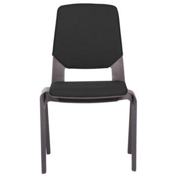Посетителски стол Carmen Limber, полипропилен, до 130кг, черен image
