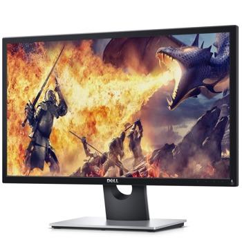 """Монитор Dell SE2417HGX, 23.6"""" (69.94cm) TN панел, 75Hz, Full HD, 1ms, 1000:1, 300 cd/m2, 2x HDMI, VGA image"""