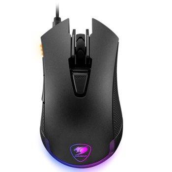Мишка Cougar Gaming Revenger, оптична (12000 dpi), гейминг, USB, черна image