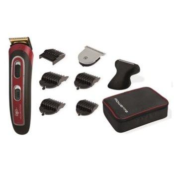 Машинка за подстригване Rowenta TN4422F0, 25 мм, функция 3 дневна брада, безжична, до 60 мин. време за работа, водоустойчива, черна/червена image