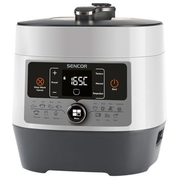 Мултифункционален уред за готвене Sencor SPR 3600WH, под налягане, мощност 1000W, капацитет 5.5L, 14 програми, бял image