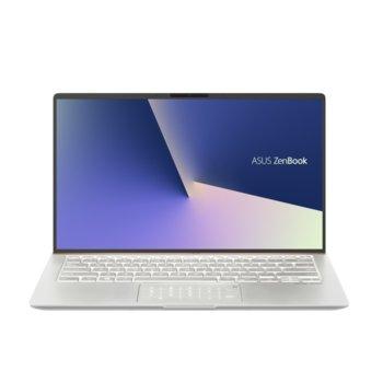 """Лаптоп Asus ZenBook 14 UX434FLC-WB502T (90NB0MP8-M10460)(сребрист), четириядрен Comet Lake Intel Core i5-10210U 1.6/4.2 GHz, 14.0"""" (35.56 cm) Full HD Glare Display & GF MX250 2GB, (HDMI), 8GB DDR4, 512GB SSD, Windows 10 Home image"""