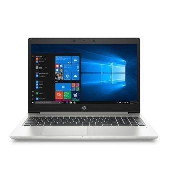 "Лаптоп HP ProBook 450 G7 (9TV52EA)(сребрист), четириядрен Comet Lake Intel Core i7-10510U 1.8/4.9 GHz, 15.6"" (39.62 cm) Full HD IPS Anti-Glare Display & GF MX250 2GB, (HDMI), 8GB DDR4, 256GB SSD, 1x USB 3.1 Type-C, Free DOS image"