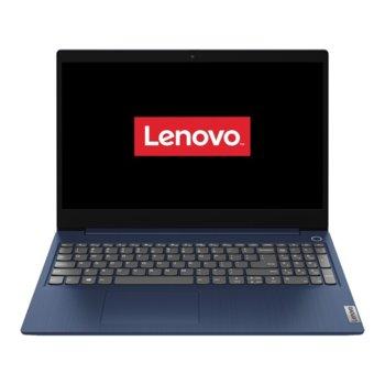 "Лаптоп Lenovo IdeaPad 3 15ADA05 (81W1002RRM)(син), четириядрен Zen 2 AMD Ryzen 7 3700U 2.3/4.0GHz, 15.6"" (39.62 cm) Full HD TN Anti-Glare Display, (HDMI), 8GB DDR4, 256GB SSD, 2x USB 3.1, Free DOS image"