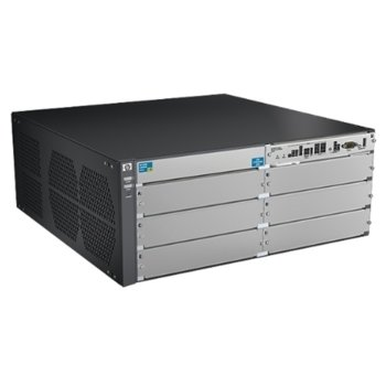 Суич Aruba 5406R zl2 J9821A, 40 Gbps, (6) open module slots, Supports a maximum of 144 autosensing 10/100/1000 ports or 144 SFP ports or 48 SFP+ ports or 48 HPE Smart Rate Multi-Gigabit or 12 40GbE ports, or a combination image