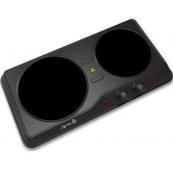 Електрически котлон Arielli AHP-6201BL, 2 нагревателни зони, механично управление, 2000 W, черен image