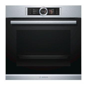 Фурна за вграждане Bosch HSG 636 ES1, клас А+, 71 л. обем, дисплей, готвене с пара, 12 начина на нагряване, инокс image