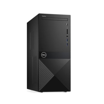 Настолен компютър Dell Vostro 3671 (N204VD3671EMEA01_R2005_22NM_U-14), четириядрен Coffee Lake Intel Core i3-9100 3.6/4.2 GHz, 4GB DDR4, 1TB HDD, 2x USB 3.1 Gen1, клавиатура и мишка, Linux image