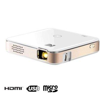 Проектор Kodak Luma 150, преносим, DLP, 720 x 1080 , 1500:1, 150 lm, HDMI, USB, Wi-Fi, MicroSD image