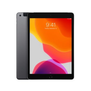 "Таблет Apple iPad 7 10.2"" (MW772HC/A)(Space Grey), Wi-Fi, 10.2"" (25.90 cm) IPS Retina дисплей, четириядрен A10 Fusion 2.34GHz, 2GB RAM, 128GB Flash памет, 8.0 & 1.2 Mpix, iPadOS, 483g image"