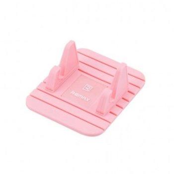 Универсална стойка за кола Remax Fairy, за табло, розова image