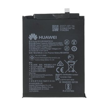Батерия (оригинална) Huawei HB356687ECW, за Huawei Mate 10 Lite, Nova Plus, Nova 2 Plus, Honor 7X, 3340mAh/4.4V, bulk image