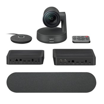 Конферентна камера Logitech Rally Ultra-HD ConferenceCam, 4K/UHD, вграден микрофон, управляема (PTZ), LAN, HDMI, USB,  image