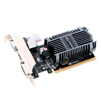 Видео карта Nvidia GeForce GT 710, 1GB, Inno3D GeForce GT 1GB DDR3, PCI-E 3.0, SDDR3, 64bit, HDMI, DVI, VGA image