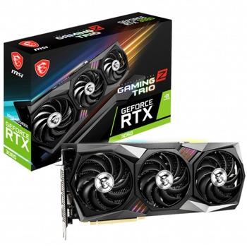 Видео карта Nvidia GeForce RTX 3080, 10GB, MSI Gaming Z Trio (912-V389-205), PCI-E 4.0, GDDR6X, 320-bit, DP, HDMI, LHR image