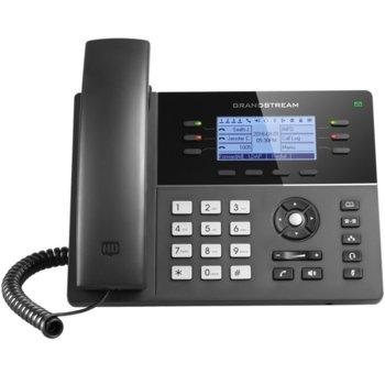 "VoIP телефон GRANDSTREAM GXP1760W, LCD дисплей 200 x 80 pixel (3.3""), 6 линии, черен image"