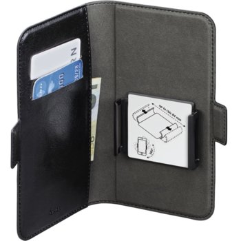Универсален калъф Hama Smart Move, еко кожа, за телефони, размер XL 11.93 - 12.95cm, черен image