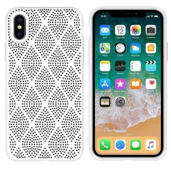 Силиконов гръб Apple iPhone X/XS бял Grid product