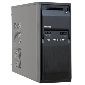 Кутия Chieftec LG-01B-OP, mATX/ATX, 2x USB 3.0, черен, без захранване, по поръчка image