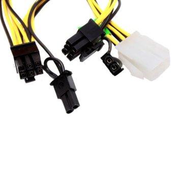 Захранващ кабел OEM, от 6-pin (ж) към 2x 6+2 pin (м) image
