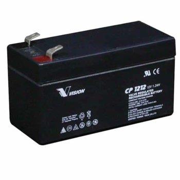 Акумулаторна батерия Vision CP1212, 12V, 1.2Ah, AGM image
