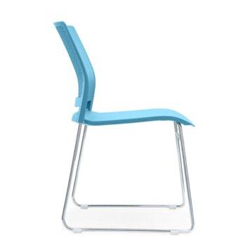 Посетителски стол RFG Gardena M, пластмасов, синя седалка, синя облегалка, 4 броя в комплкет image