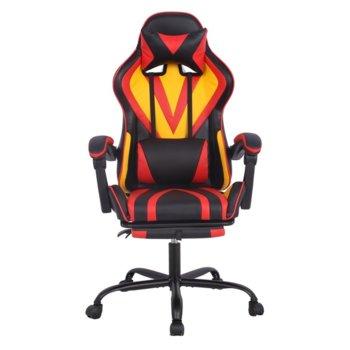 Геймърски стол RFG Max Game (ON4010200083), еко кожа, 150 кг. максимално натоварване, стоманена база, газов амортисьор, черен/жълт image
