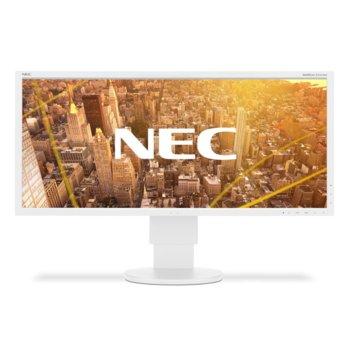 """Монитор NEC EA295WMi White, 29"""" (73.66 cm) IPS панел, UWHD, 6ms, 25000:1, 300 cd/m2, VGA, HDMI, Display Port, USB image"""