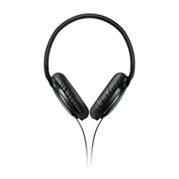 Слушалки Philips Flite Everlite SHL4805RG, микрофон, 32мм мембрани, дълбок бас, бързи бутони, сгъваеми, ъглов жак, черни image