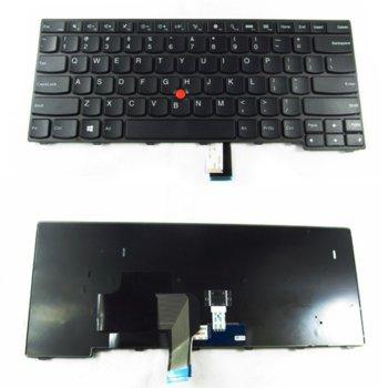 Клавиатура за Lenovo, съвместима със серия Thinkpad T440 T440P T440S L440 series Черна с Черна Рамка и Кирилица image