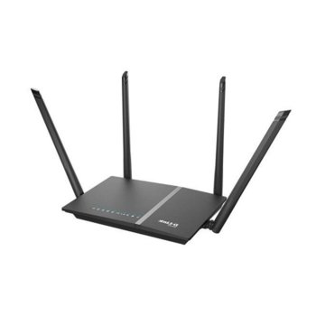 Рутер D-LINK DIR-825/EE, 1200 Mbps, 2.4GHz (300 Mbps)/ 5GHz (867 Mbps), Wireless AC, 4x 10/100/1000Mbps, 1x 10/100/1000Mbps WAN, 4 външни антени image